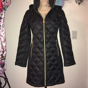 Black Down Fill Michael Kors Quilted Jacket