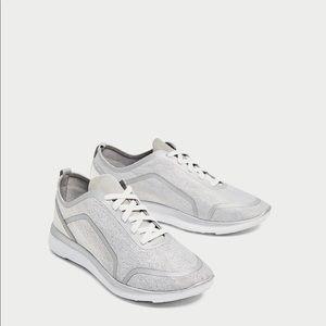 Zara silver sneakers