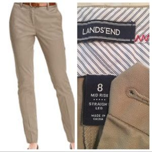 Lands'End  Women's Chino Pants Size 8