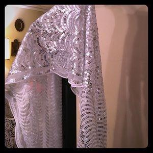 Betsey Johnson Sequined shawl