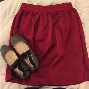 Beautiful Red Satin H&M Skirt