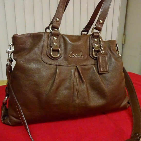 46ed96b404 Coach Bags | Madison Ashley Brown Leather Carry All | Poshmark