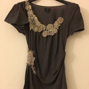 Anthropologie Deletta with floral lace