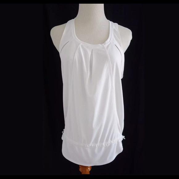 6795cc4e79a Adidas by Stella McCartney Tops - ADIDAS STELLA MCCARTNEY White Racerback  Tank Top