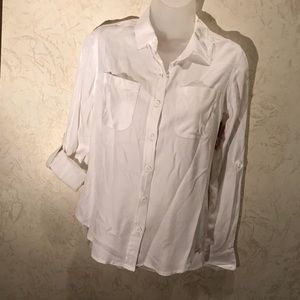 🐟 butter soft MOSSIMO SUPPLY CO white XS LS NWT
