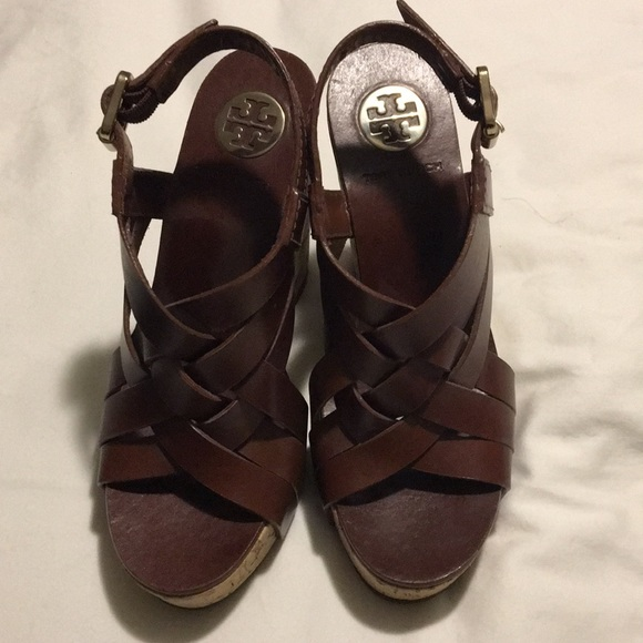 """3ce6b541d16a Tory Burch """"Ace"""" wedge braided leather sandal. M 5a0e4d09bf6df5f1d00111fb"""