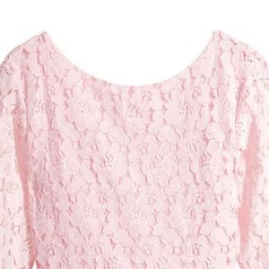 NEW!! Boutique pink lace shirt w/ bow detail back