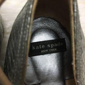 kate spade Shoes - Kate Spade Silver Ankle Strap Kitten Heels