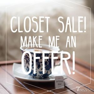 Accepting ALL Reasonable Offers! Closet Cleaning!