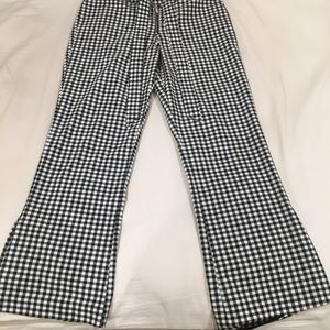 Checkered ankle pant