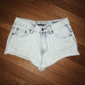 Zara Trafaluc Premium Wash Mid Rise Denim Shorts