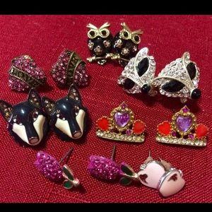 Betsey Johnson earrings Lot Never Worn