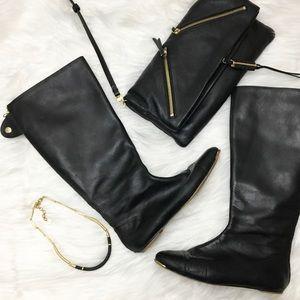 Zara Basic Collection Black Riding Boots