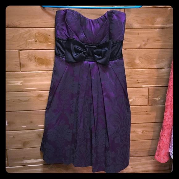 Euc Purple And Black Homecoming Dress Size 3 Poshmark