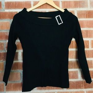 Black Sweater with Buckle