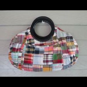 J. Crew Madras Plaid Clutch Bag Patchwork Plaid