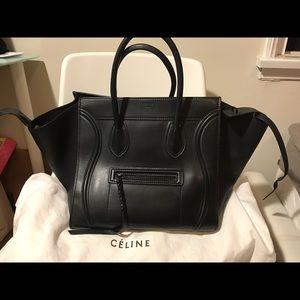Celine phantom luggage leather tote bag