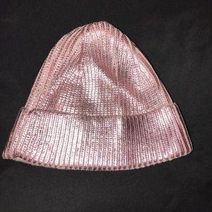Metallic pink hat