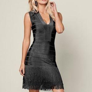 Venus black fringe dress