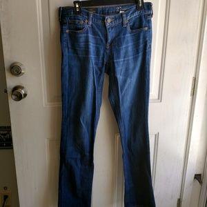 J. Crew women's Matchstick dark wash straight jean