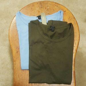 2 J. Crew Ballet Cap Sleeve T-shirts