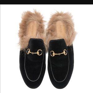Black Velvet Gucci mules