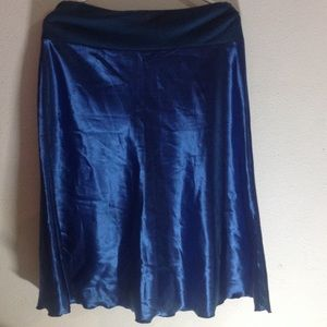 Dresses & Skirts - Blue shiny flared skirt size 2Xl