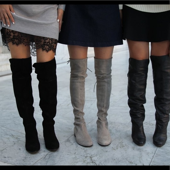 d537ecb0d INC International Concepts Shoes   Grey Suede Over The Knee Boots ...