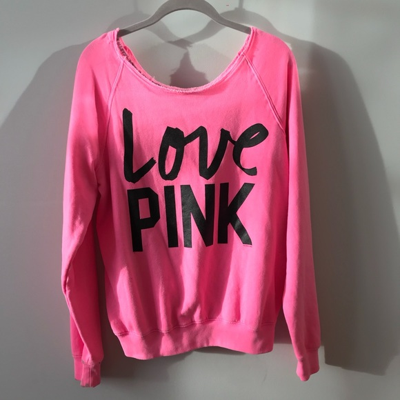 486200b4154 Victoria's Secret PINK Off Shoulder Sweatshirt. M_5a0e53a88f0fc4a45f013819