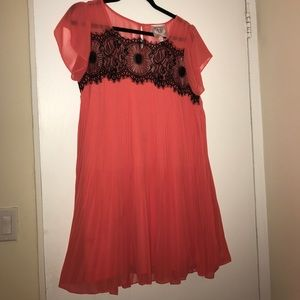 Romeo & Juliet Couture Pink and Black Lace Dress
