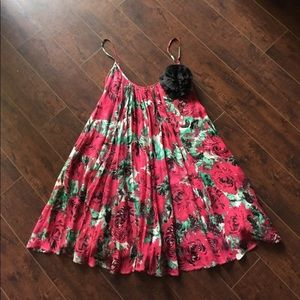 PLENTY by Tracy Reese silk pleated floral dress