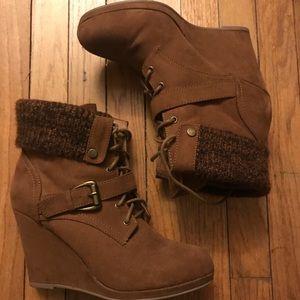 Justfab brown booties!