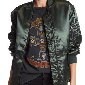 NWT Satin Zip Up Bomber Jacket TOPSHOP