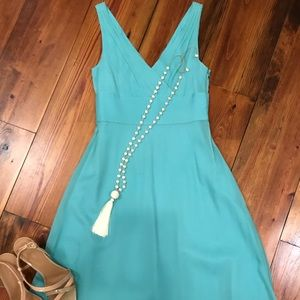 J. Crew turquoise silk dress