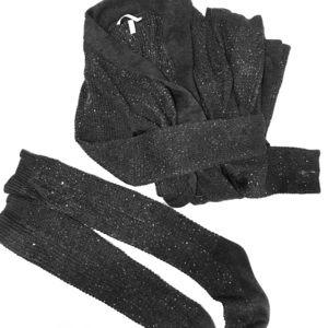 Sparkly VS sweater robe w/ matching knee socks