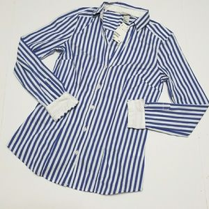 H&M striped long sleeve button down