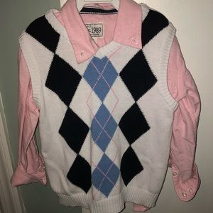 The Children's Place pink shirt & sweater vest
