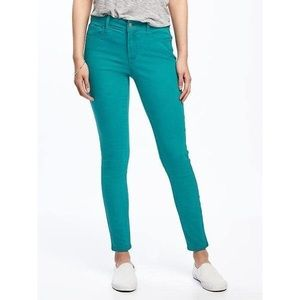 J. Crew Toothpick Ankle Jeans in Teal