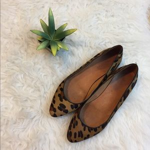 Madewell Leopard Sidewalk Skimmer Flats