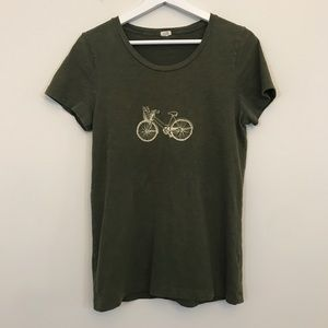 J. Crew Olive Green Bicycle Tee