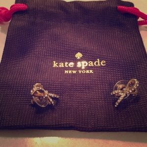 Kate Spade Bow Rhinestone Earrings