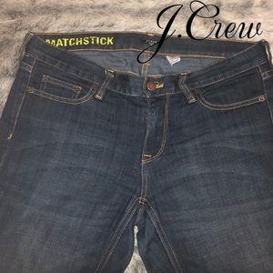 🚨J Crew Women's Matchstick Denim Jeans   29 waist