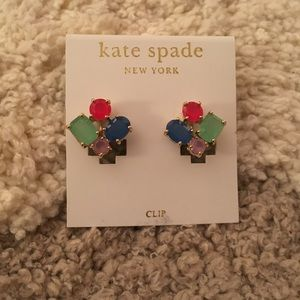 Kate Spade Clip-On Cluster Earrings ⭐️NWT⭐️