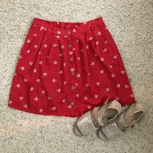 XHILARATION women's red skirt size L