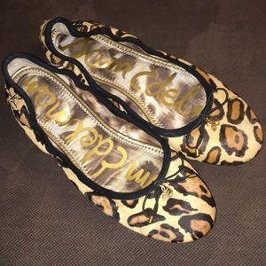 Sam Edelman Calf Fur Leopard Felicia Flats
