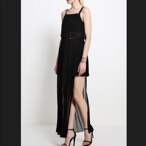 BCBG Generation Pleated Unique Black Dress