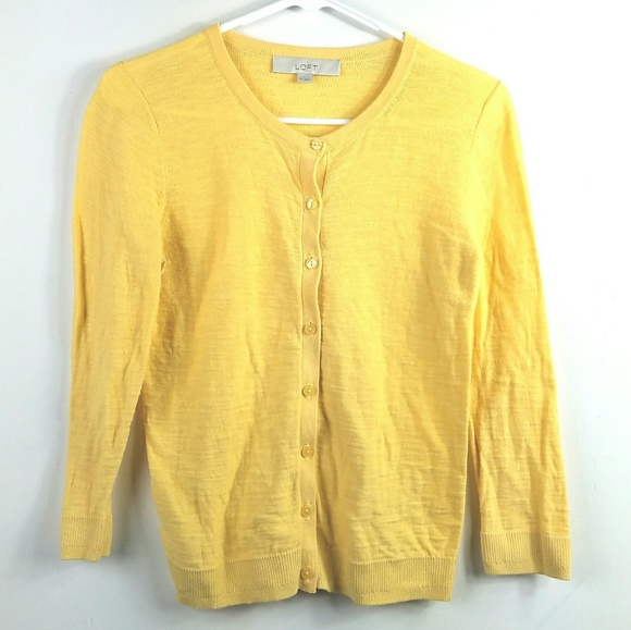 LOFT - LOFT Butter Yellow Cardigan Sweater from Lemon's closet on ...