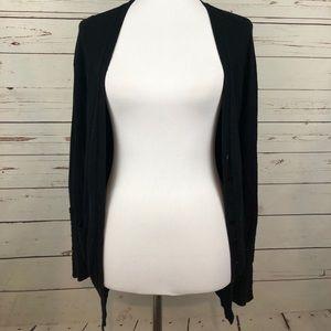 Zara black thin knit button cardigan