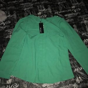 Green blouse new with tags