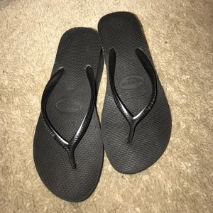 Havaiana black wedge flip flop